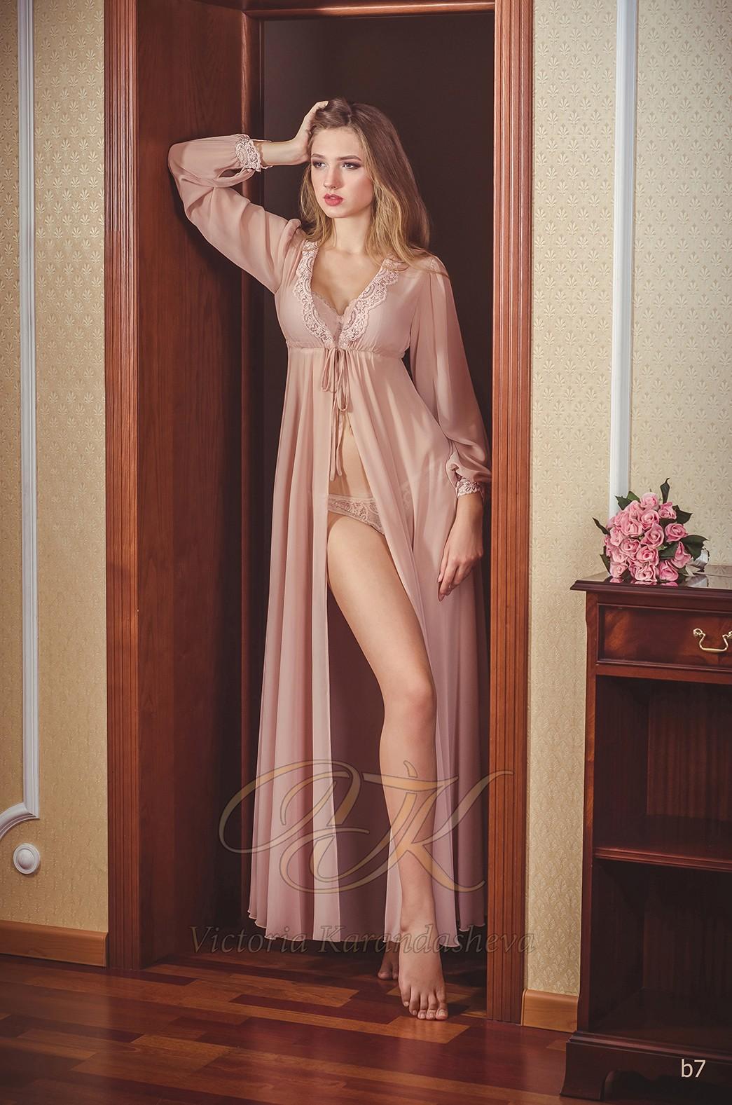 Шифоновое будуарное платье