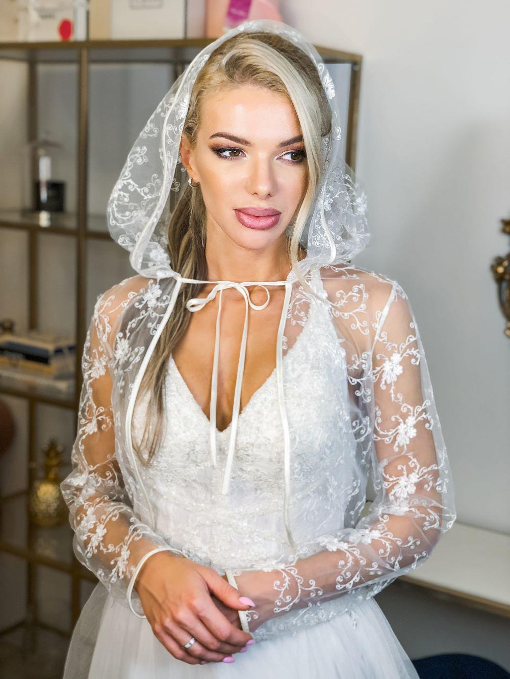 Болеро из гипюра венчальное