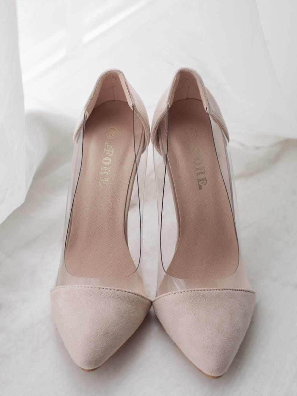 Туфли бежевые кожзам