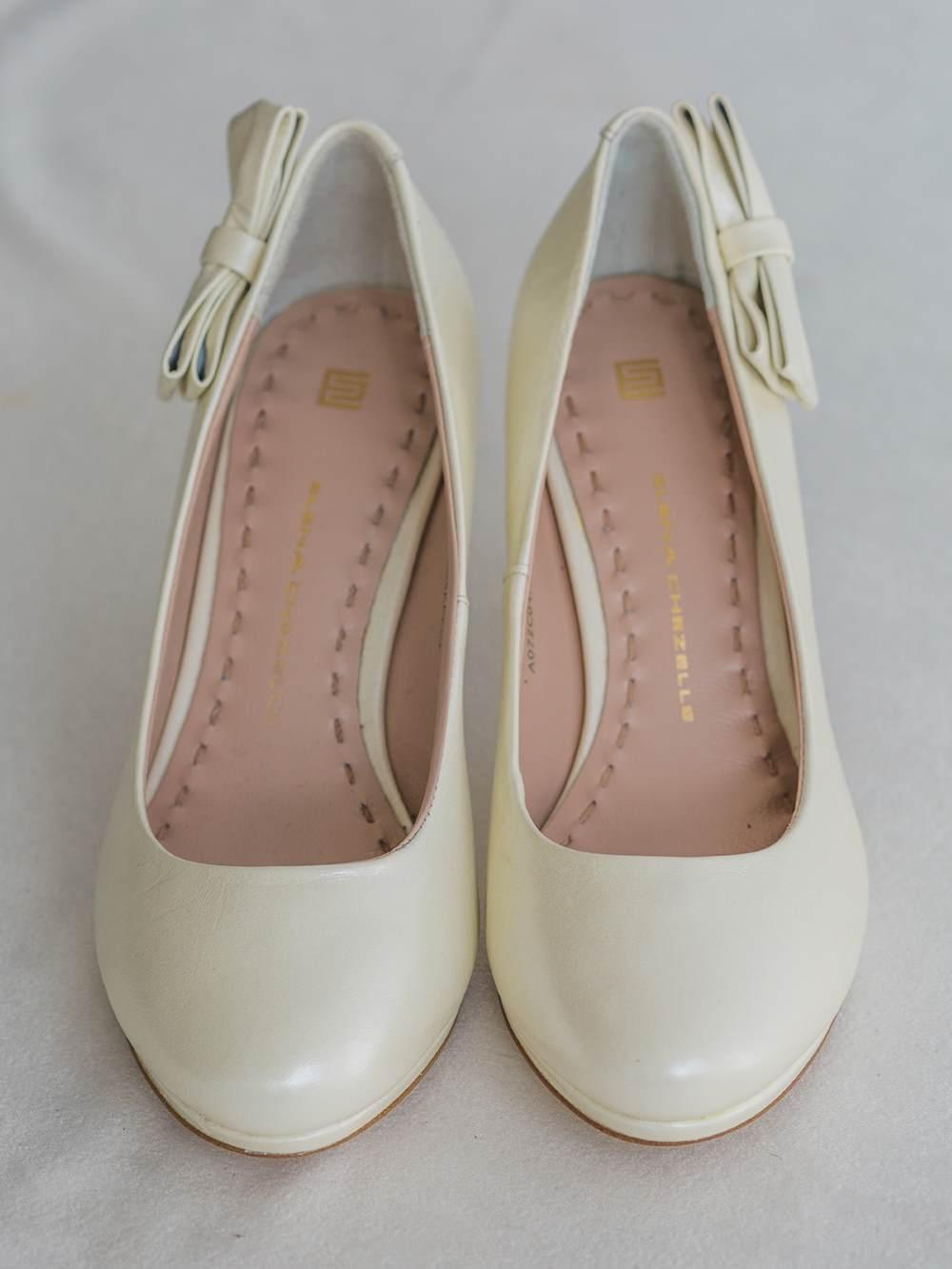 Туфли с бантиками айвори